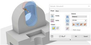 LỆNH EXTRUDE TRONG AUTODESK INVENTOR 2019