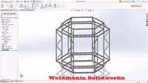 Tổng quan về khung dầm hàn gò Weldments Solidworks