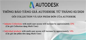 Thông báo tăng giá với gói Collection và sản phẩm đơn của Autodesk từ tháng 02/2020
