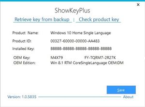 Kiểm tra Key Windows bản quyền bằng ShowKeyPlus